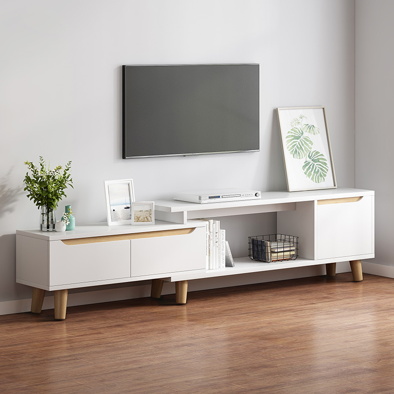 Television Cabinet Teapoy Table Packaged Combination Northern European-Style Modern Minimalist Small Apartment Floor Cabinet Liv