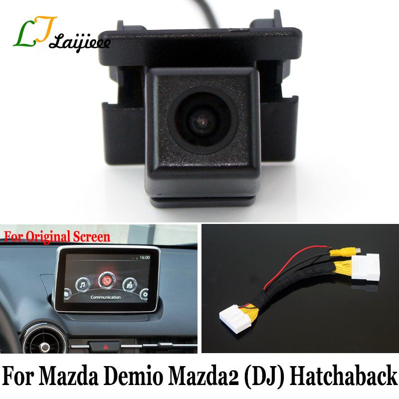 For Mazda Demio 2 Mazda2 DJ 5-Door Hatchaback / 28 Pin Reverse Camera Interface For Original Screen Compatible Rear View Camera