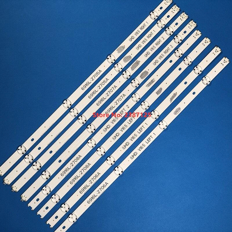 100% New LED Backlight Strip 6916L-2705A 6916L-2706A For 49LF5010 49LF5100  49LF5400 49LF510A 49LF510T 49LW540S