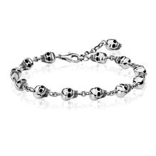 Skull Charm Beads Link Chain Bracelets Women Men 925 Sterling Silver Thomas Style Punk Skeleton Bangle Jewelry Accessories Gifts(China)