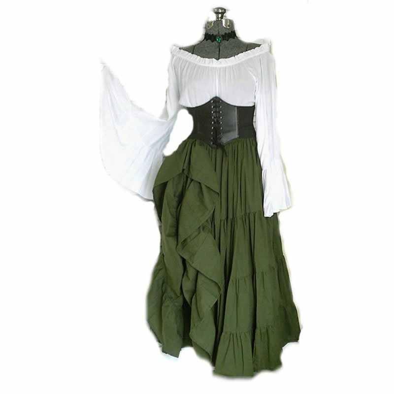 Rosetic готическое черное средневековое Макси-платье женское винтажное ретро с открытыми плечами с роговыми рукавами асимметричное платье Готическая Талия складное платье