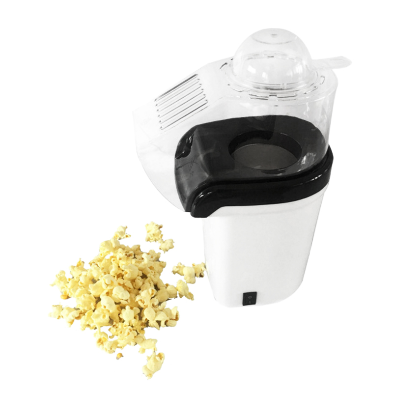 Popcorn Machine Hot Air Popcorn Popper + Popcorn Maker Wtih Measuring Cup To Measure Popcorn Kernels + Melt Butter - White(EU Pl