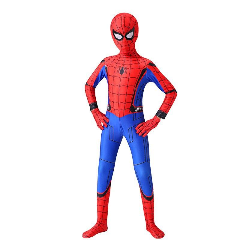 Iron Spider Cosplay Amazing Spider-boy Man Halloween Costume Peter Parker Zentai Suit Superhero Bodysuit For Kids Adult C39A66 6