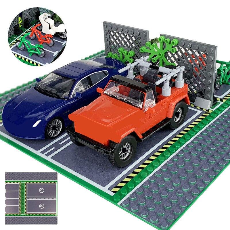 Опорная пластина City Street View 32*32 для дорожной парковки, Базовая плита, дорожная плита, строительные блоки, кирпичи, игрушки для детей «сделай с...