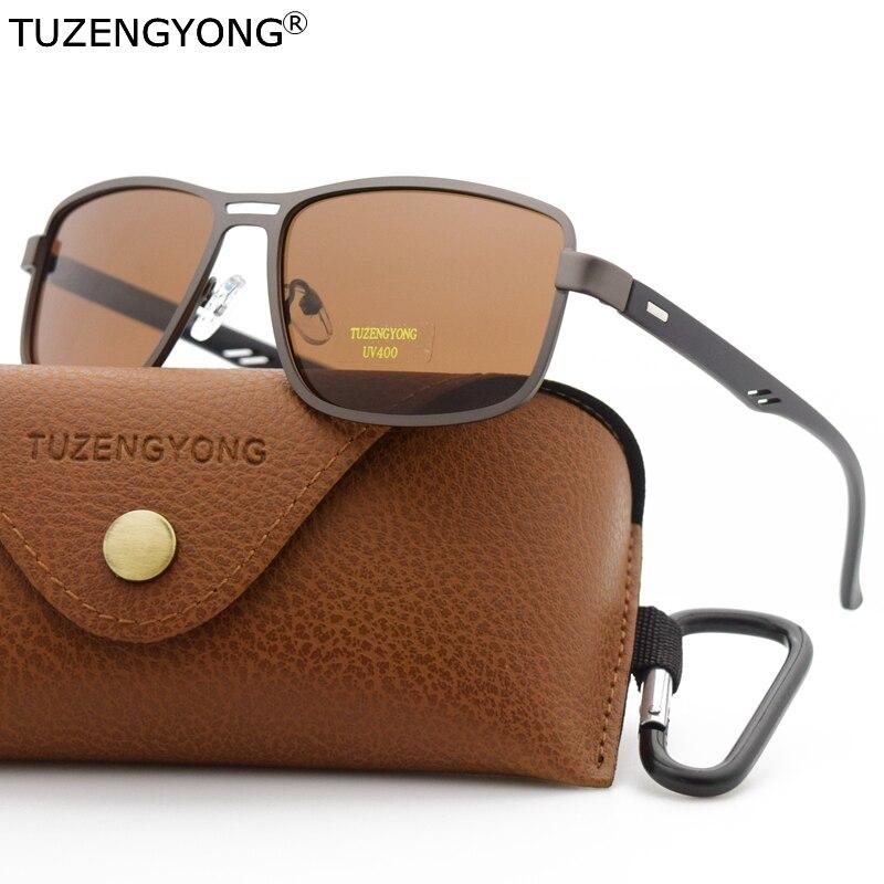 TUZNGYONG Marke 2020 Neue Sonnenbrille männer Polarisierte Platz Legierung + TR90 Rahmen Männlichen Sonnenbrille Fahren Angeln Brillen Für männer
