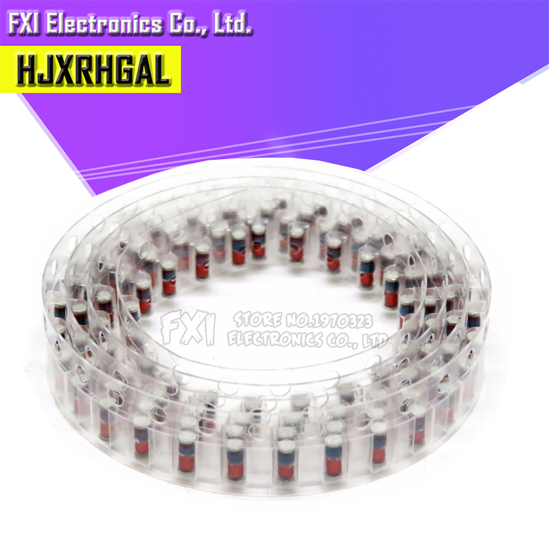 200PCS ZMM 3V 3V3 3V9 4V7 5V1 7V5 8V2 10V 12V 15V 16V 18V 20V 24V LL34 SMD Zener Diode Package 1/2W 0.5w Chip Zener Diode