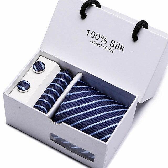 Gentlemen's Luxury Gift Box - Tie, Hanky & Cufflink 3