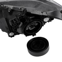 JEAZEA 2pcs Universal Black Rubber Waterproof Dustproof Seal Dust Cap Cover Fit For Headlamp Headlight LED HID Conversion Kit