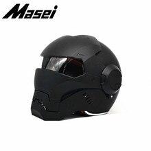 Masei 610 Железный человек шлем мотоциклетный винтажный Ретро-шлем полушлем открытый шлем-каска мотокросса внедорожный шлем для путешествий