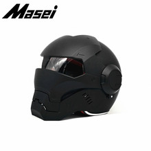 Masei 610 Iron Man helmet motorcycle Vintage Retro helmet half helmet open face helmet casque  Motocross Off Road Touring helmet masei 610 top abs moto biker helmet ktm iron man personality special fashion half open face motocross helmet matt black