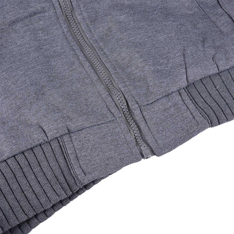 暖かいパーカー冬ジャケット男性パーカーオムジッパー Abrigo Hombre Invierno 厚いパーカー Veste-オムスリム 2019 男性服
