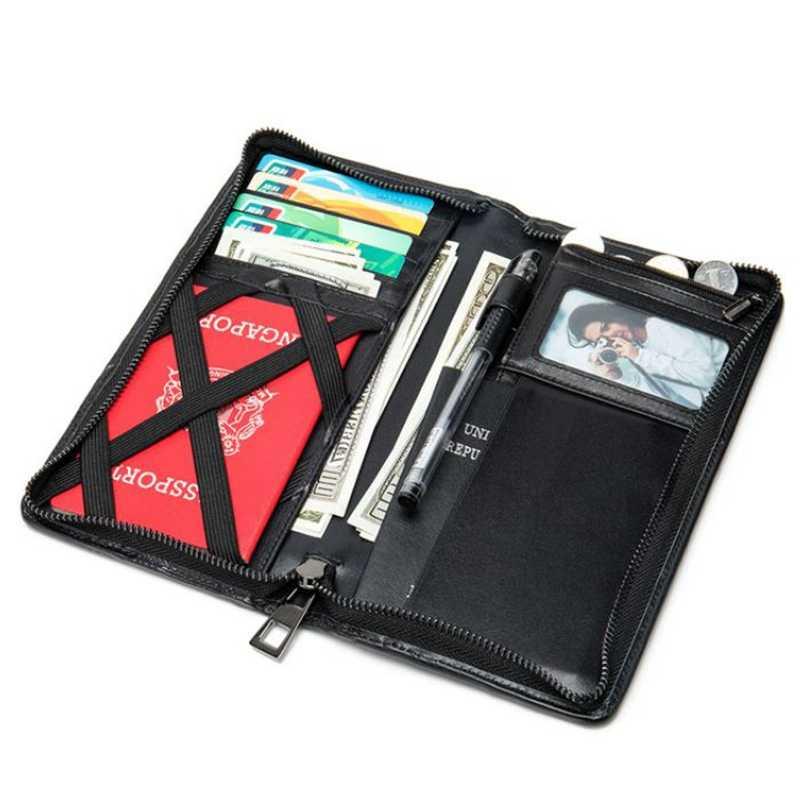 Ví Da Thật Nam Hộ Chiếu Thẻ Hoder Màu Magic Walet Danh Mục Đầu Tư Người Portomonee Mini Vallet Da Hộ Chiếu Passport Cover
