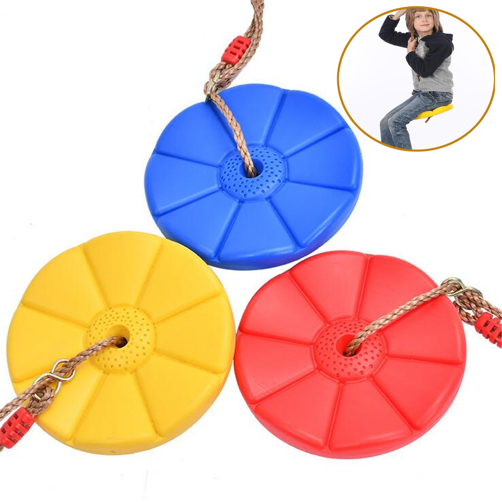 Kids Outdoor Plastic Swing Disc Toy Swing Indoor Climbing Swing for Children Garden Playground Camping Playing Toys