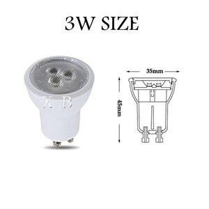 Image 2 - Dimmable Super Bright MINI 3W GU10 MR11 LED หลอดไฟ LED สปอตไลท์สีขาวอุ่นสีขาวเย็นสีขาวธรรมชาติหลอดไฟ LED 3000 K 4000 K 6000 K