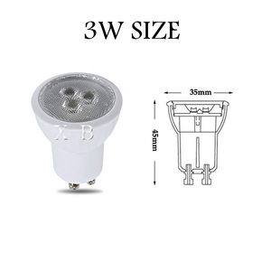 Image 2 - Dimmable Super Bright Mini 3W GU10 MR11 LED Bulb Led Spotlights Warm white cold white Natural white LED lamp 3000k 4000k 6000k
