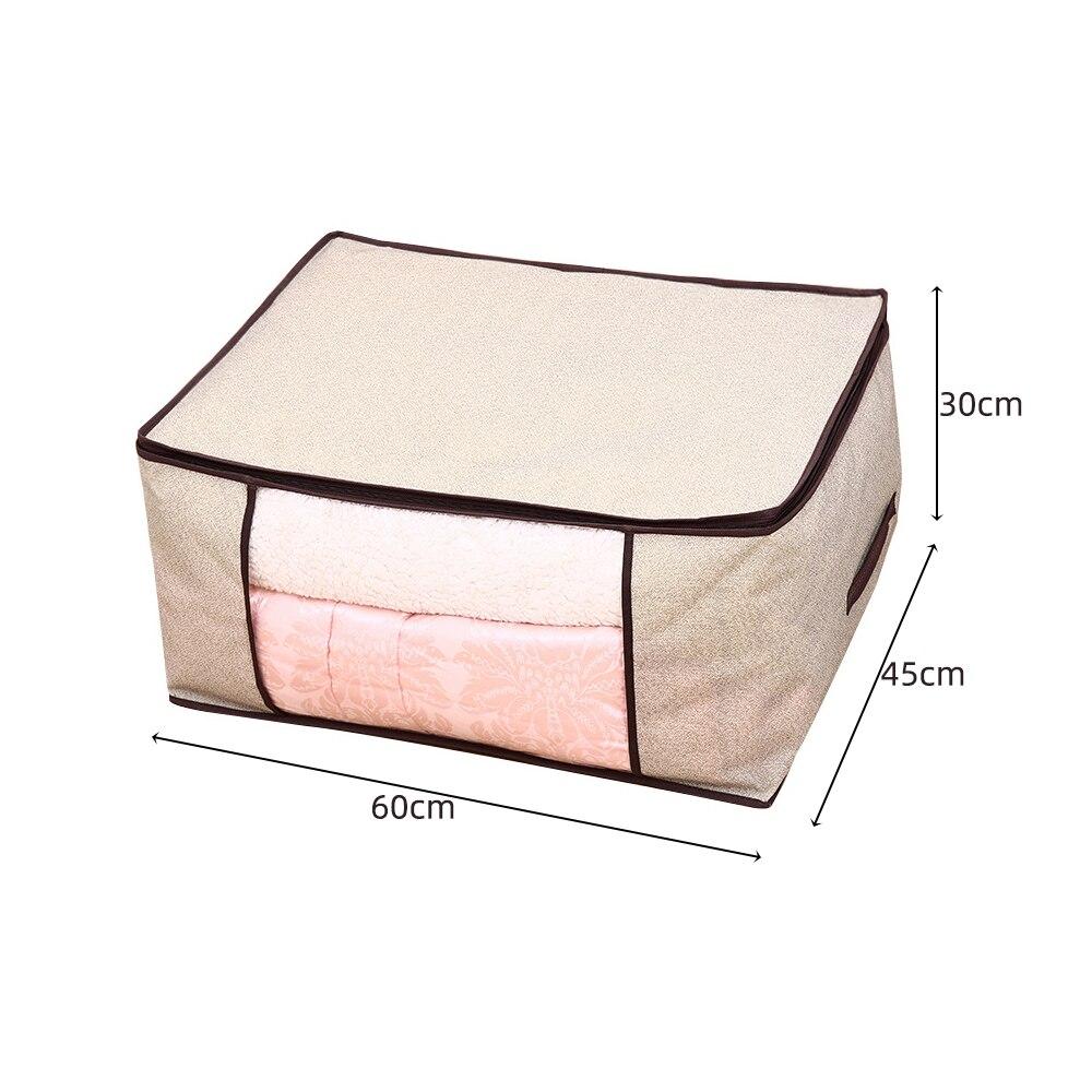 Складной тканевый ящик для хранения грязной одежды, чехол на молнии для игрушек, стеганая коробка для хранения, прозрачный влагостойкий Органайзер - Цвет: G226586B