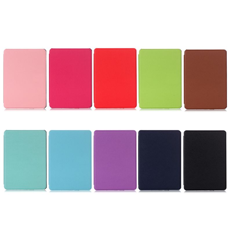 Protective-Cover E-Book-Case Kindle 10th Amazon All-New Magnetic PU for Flip-Stand Cross-Cross-Pattern