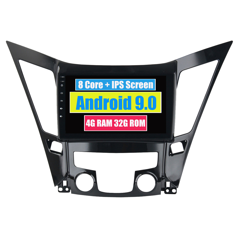 RoverOne Car Radio <font><b>GPS</b></font> For <font><b>Hyundai</b></font> Sonata <font><b>i40</b></font> i45 i50 2011 - 2014 Android 9.0 Octa Core Touchscreen Multimedia Player Head Unit image