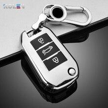 Мягкий ТПУ чехол для автомобильного ключа с дистанционным управлением чехол для Citroen C3 C4 C5 C6 CACTUS Picasso Xsara для Peugeot 308 3008 508 208 408 307