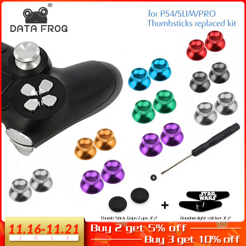 Aluminum Metal Analog Joystick Thumb Stick Grip Cap Replacement Buttons For Playstation 4 PS4 Slim/Pro/Xbox One Slim Controller