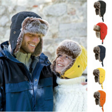 Unisex Men Women Russian Hat Trapper Bomber Warm Ear Flaps W