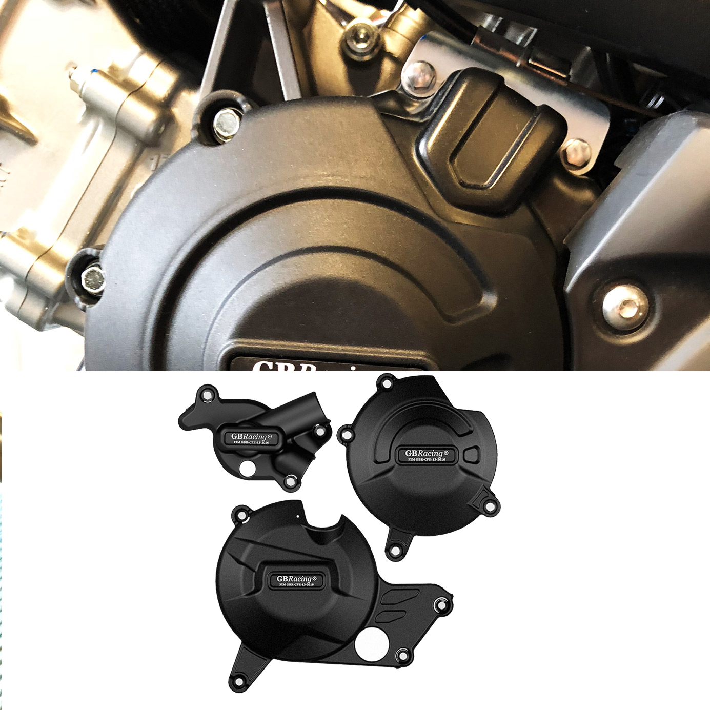 Motorcycle Secondary Engine Cover Set Case for GBRaing for Suzuki SV650 2015-2019