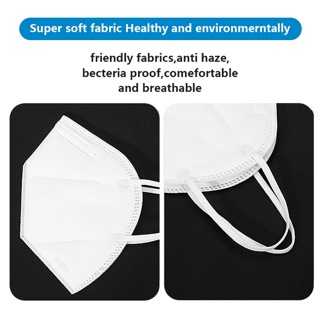 KN95 Dust Mask Protective Anti-Dust Masks Mouth Face Mask Protection Face Mouth Mask 95% Filtration Anti Fog Gas Flu In Stock 4