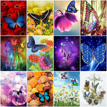 DIY Diamond Embroidery Colorful butterfly Diamond Painting Cross Stitch Full square round diamond embroidery Rhinestone Mosaic diy diamond embroidery colorful butterfly diamond painting cross stitch full square round diamond embroidery rhinestone mosaic