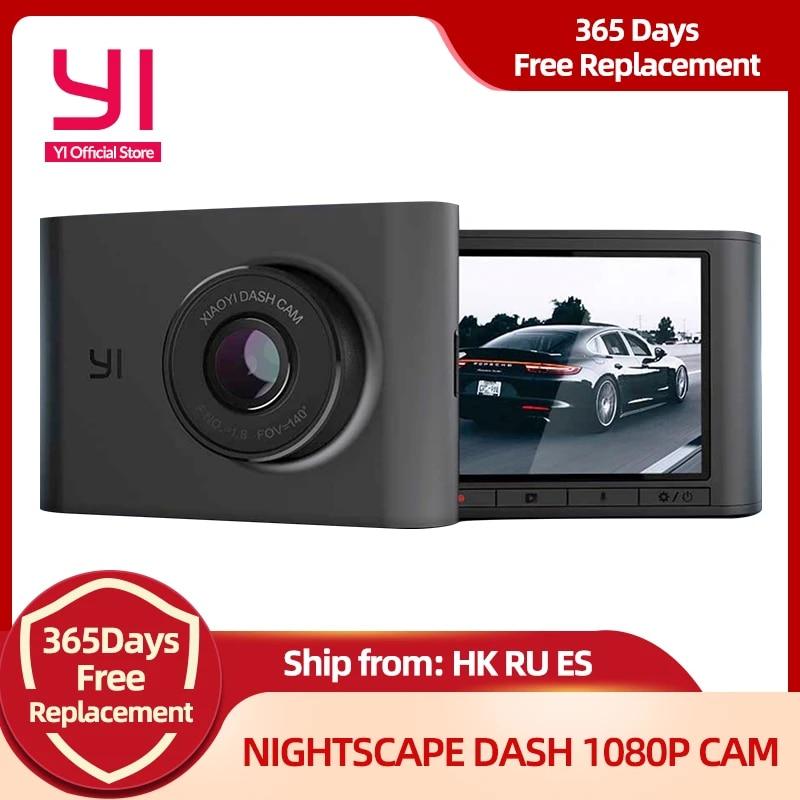 YI Nightscape kamera samochodowa 2.4 calowy ekran LCD 140 obiektyw szerokokątny Night Vision HD 1080P wideorejestrator samochodowy aparat z panelem pojazdu
