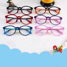Дети девочка мальчик эластичные очки ноги очки против близорукости в оправе оптические очки силиконовые детские оправы TR90 удобные анти-синие
