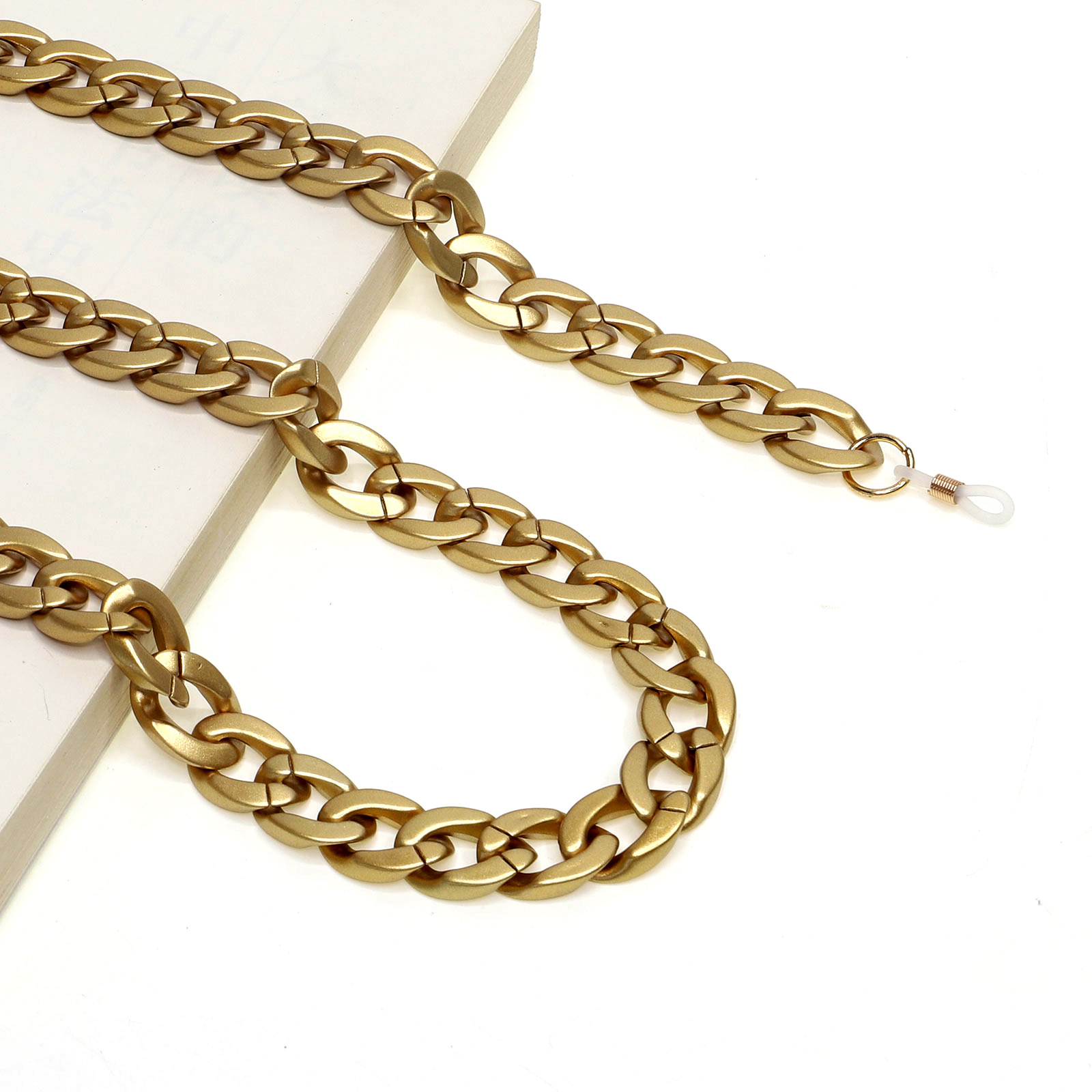 70CM Punk Gold Frosted Acrylic Reading Glasses Hanging Neck Chain Sunglasses Chain Eyeglasses Strap Woemn Glasses Accessories
