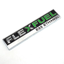 Carro de metal adesivo flexfuel e85 etanol emblema guarnição 3d emblema tronco do corpo do carro acessórios decoração para ford focus audi bmw vw