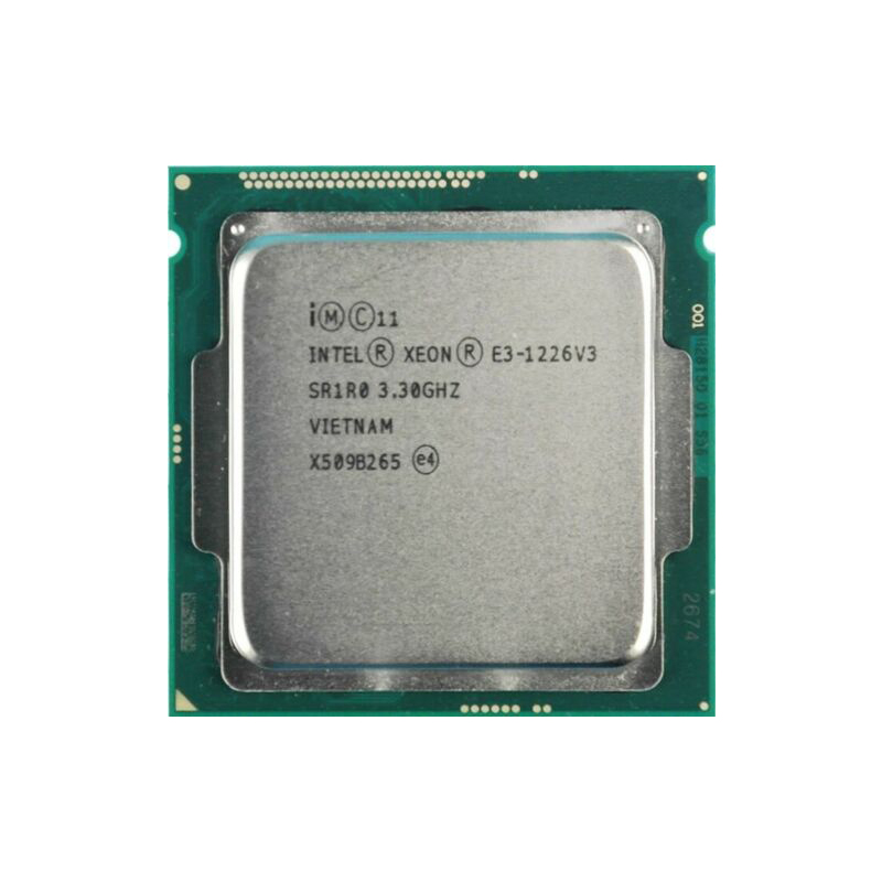 Процессор Intel Xeon E3 1226v3, E3 1226 V3, 3,3 ГГц, четырехъядерный, четырехпоточный ЦПУ L2 = 1 Мб, L3 = 8 Мб, 84 Вт, LGA 1150