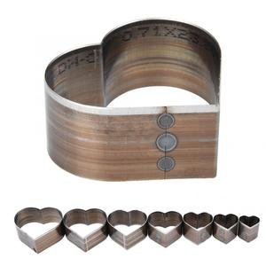 Image 2 - 7Pcs 20 50mm Heart Shaped  Leather Cutting Die DIY Leather Craft Cutting Mold DIY Steel Blade Circle Shaped Cutter Craft Die