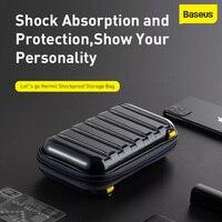 Baseus-Bolsa de almacenamiento a prueba de golpes, accesorios de viaje, bolsa organizadora de auriculares, Cable USB, cargador de tarjeta, teléfono móvil, carcasa para PC