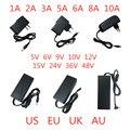 5V 6V 9V 10V 12V 15V 24V 36V 48V 1A 2A 3A 5A 6A 8A 10A AC/DC адаптер переключатель Питание Зарядное устройство ЕС и США для Светодиодный светильник полоски CCTV