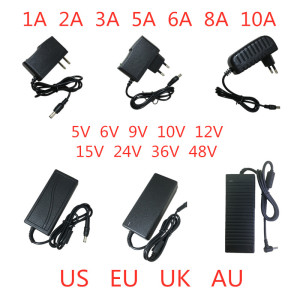 5V 6V 9V 10V 12V 15V 24V 36V 48V 1A 2A 3A 5A 6A 8A 10A Power Supply Adapter lighting transformer Converter For LED strips light(China)