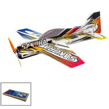 RC EPP Micro Indoor 3D F3P Airplane Sakura Radio Controlled Electric Plane 420mm Wingspan Unassembled Need to Build Aeroplane new pp magic board micro 3d indoor airplane sakura lightest plane kit rc airplane rc model hobby toy hot sell rc plane