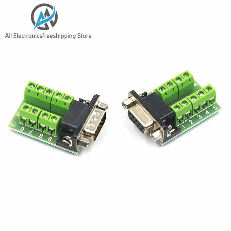 DB9 Männlich Weiblich Adapter Signale Terminal Modul RS232 Seriell Zu Terminal DB9 Stecker