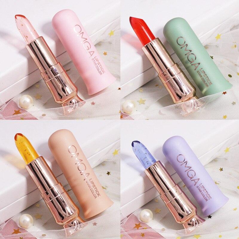 4colors/set Jelly lip gloss long-lasting shiny gloss matte liquid lipstick waterproof Color Changing Lipstick makeup Cosmetics