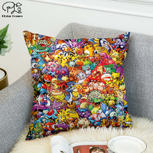 90's classic cartoon Pokemon 3D printed Pillow Case Polyester Decorative Pillowcases Throw Pillow Cover style-1 marilyn monroe pillow case polyester decorative pillowcases throw pillow cover style 9