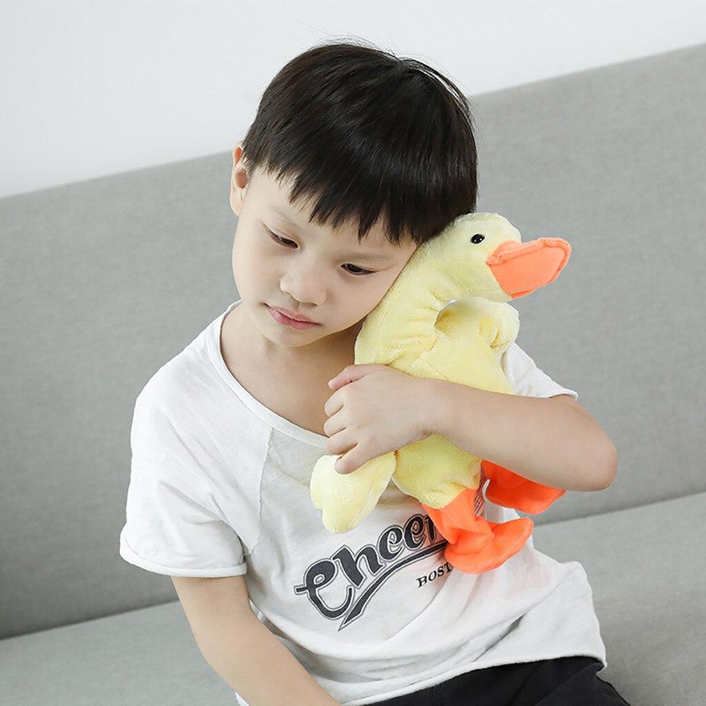 Electric Walking Sound Plush Ducks Toys Battery Powered Stuf…