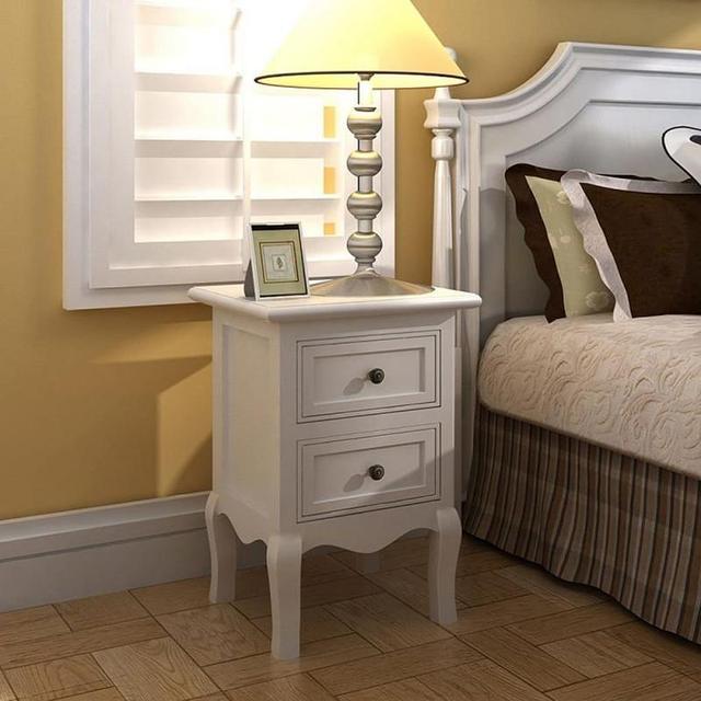 2Pcs/Set of Wood Nightstands Dressers   6