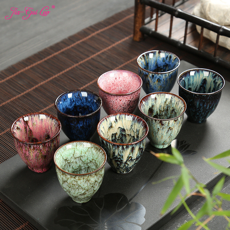 Ceramic 75ML China Tea Cup Kiln Change Ceramic Home Tea Cup Creative ceramic cup cups tazas de ceramica creativas I036