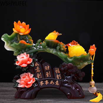 WSHYUFEI Everything goes well Resin Decoration Lucky Fortune Home Office Decoration Tabletop Ornaments Housewarming gifts