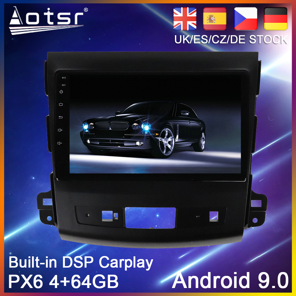 <font><b>Android</b></font> 10 PX6 Car DVD Player GPS Navigation For <font><b>Mitsubishi</b></font> <font><b>Outlander</b></font> 2 2005-2011 Auto Radio Stereo Multimedia Player HeadUnit image