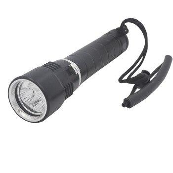 3x XM-L L2 T6 LED Scuba Diving Flashlight Underwater 100M Torch Diver Lantern 18650 26650 Submarine Light Spearfishing Light цена 2017
