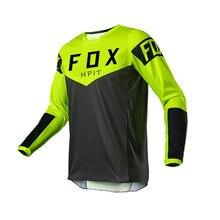 Nova corrida downhill jérsei bicicleta de montanha ciclismo camisa crossmax roupas para mtb hpit raposa motocicleta jérsei dos homens