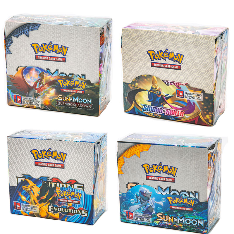 324 Cards Pokemon Card Sword & Shield Cosmic Eclipse Booster Box (Pack of 36) Trading Card Game Kids Collection Toy gift 1