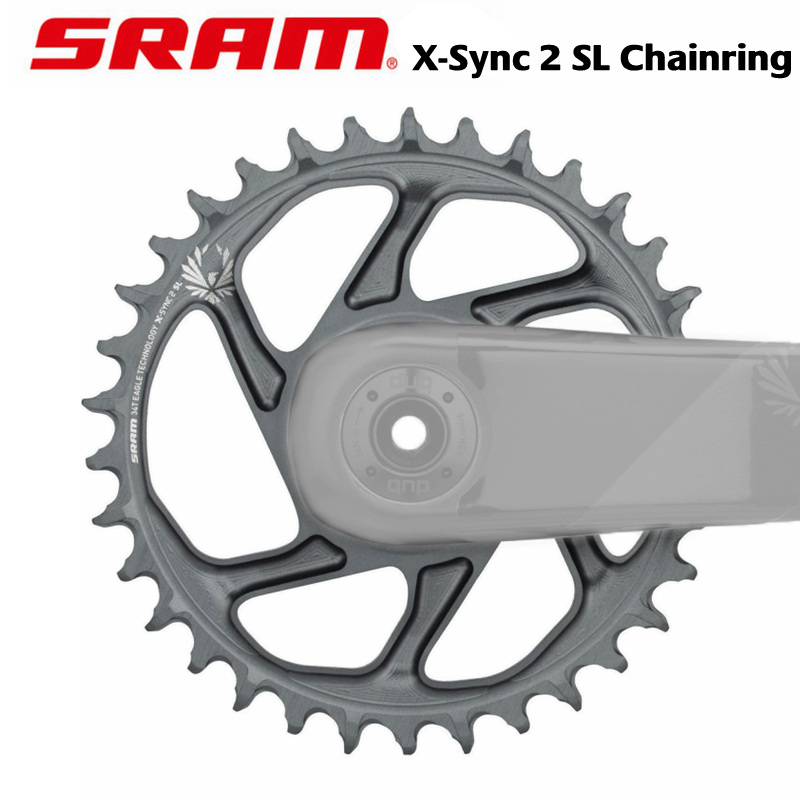 Black SRAM X-Sync 2 Eagle Direct Mount 30T Chainring 3mm Offset for Boost